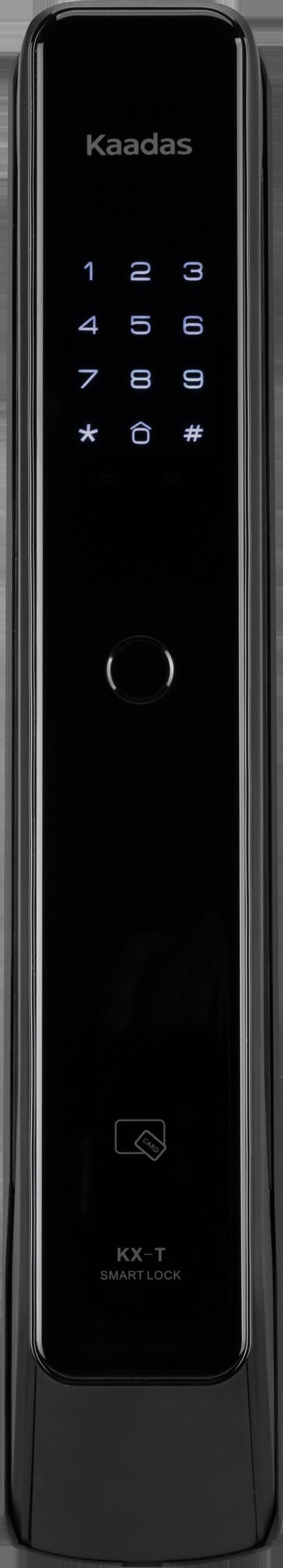 Kaadas KXT - замок электронный биометрический на входную дверь. Вид спереди.