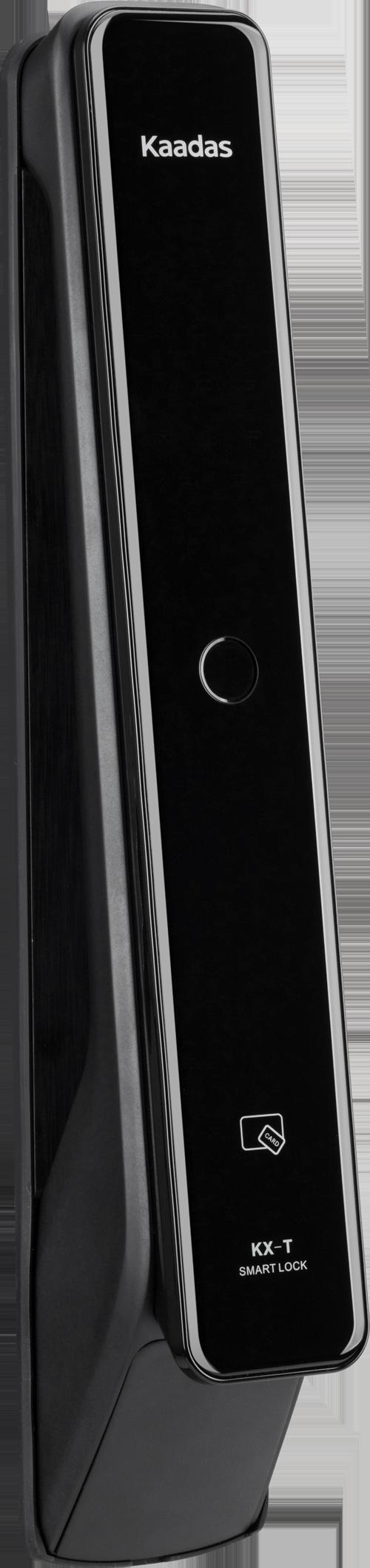Kaadas KXT - замок электронный биометрический на входную дверь. Вид сбоку.
